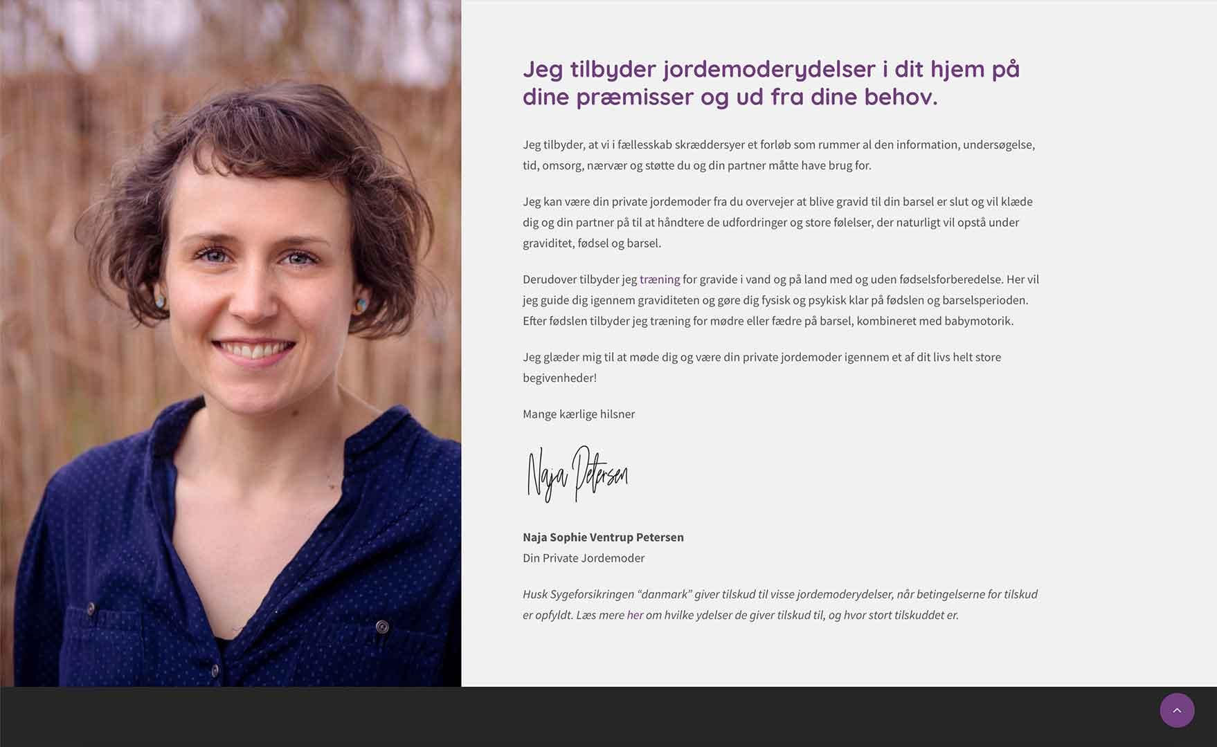 Naja Petersen, jordemoder-slagelse.dk